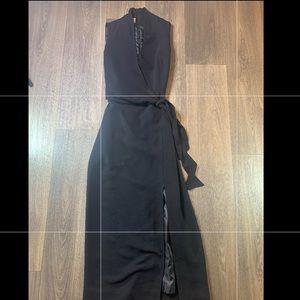 Jones Wear Black Wrap Dress